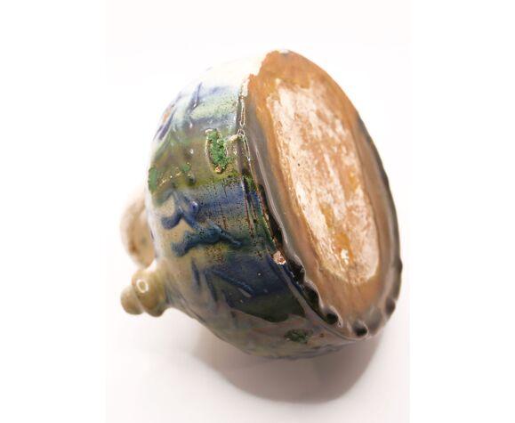 Gargoulette rustique aux motifs floraux