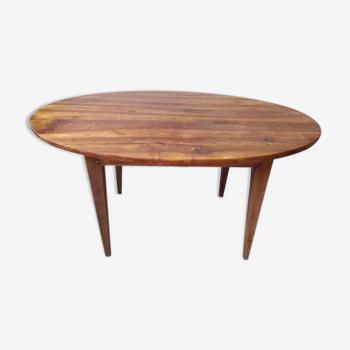 Table ancienne ovale en bois noyer