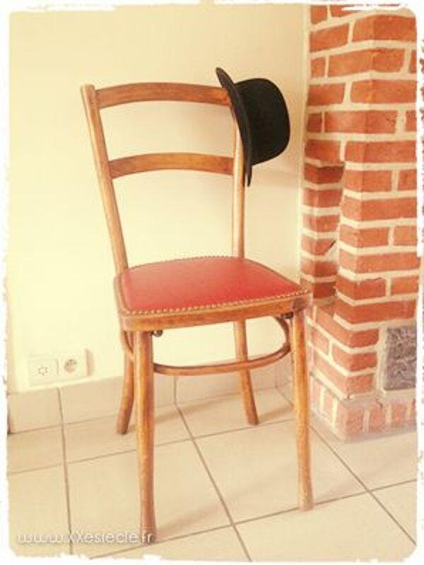 Chaise de bistro en hêtre courbé