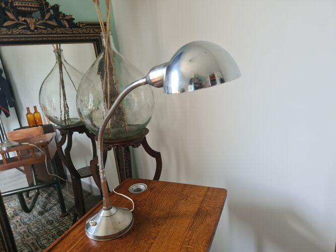 Lampe de bureau vintage chrome
