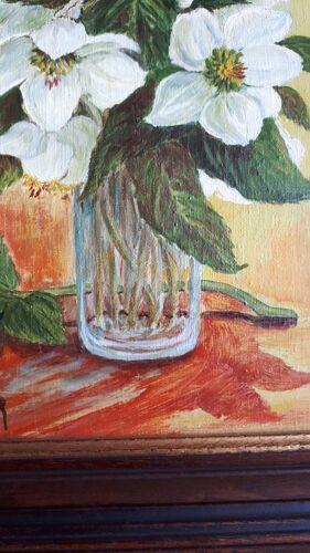 Tableau roses de noël