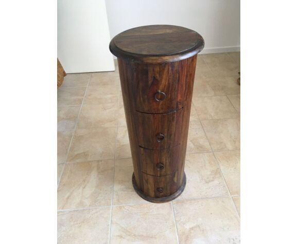 Meuble de rangement vintage bois exotiques et précieux.