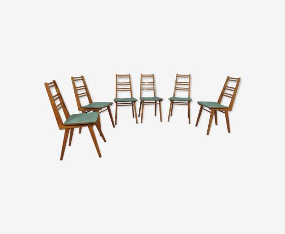 6 chaises vintage années 50