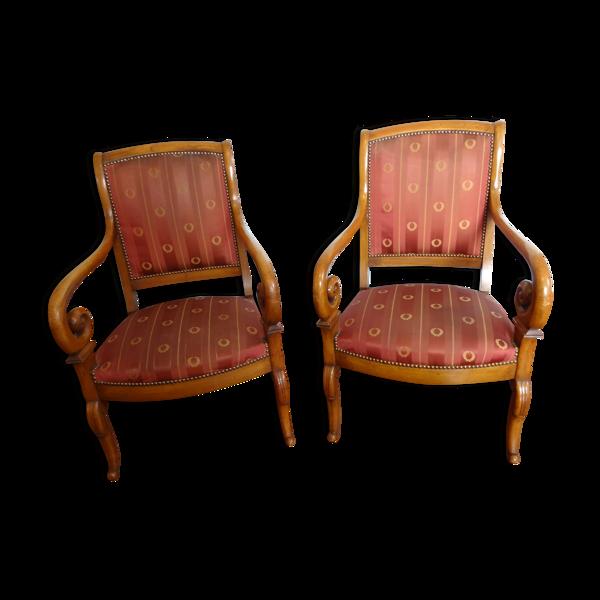 Selency Paire de fauteuils Restauration en merisier