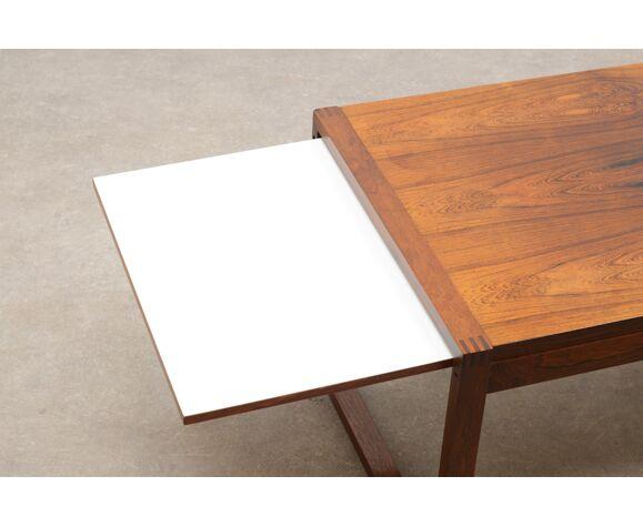 Table basse extensible en bois de rose des années 60