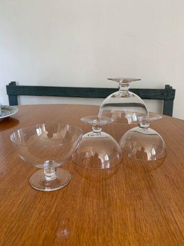 Set de 4 coupes cristal vintage Baccarat