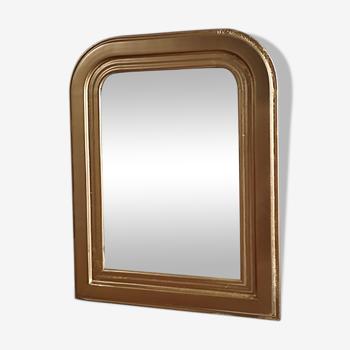 Miroir ancien plâtre cadre bois doré 41x53cm