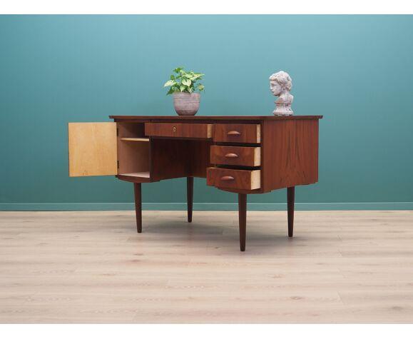 Bureau en teck, années 1970, design danois, fabriqué au Danemark