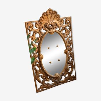 Miroir doré ancien XIXe Bois