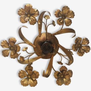 Applique fleur en laiton