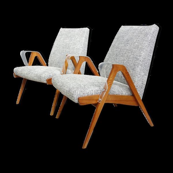 Paire de chaises Jitona années 1960