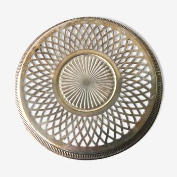 Dessous de plat en métal argenté