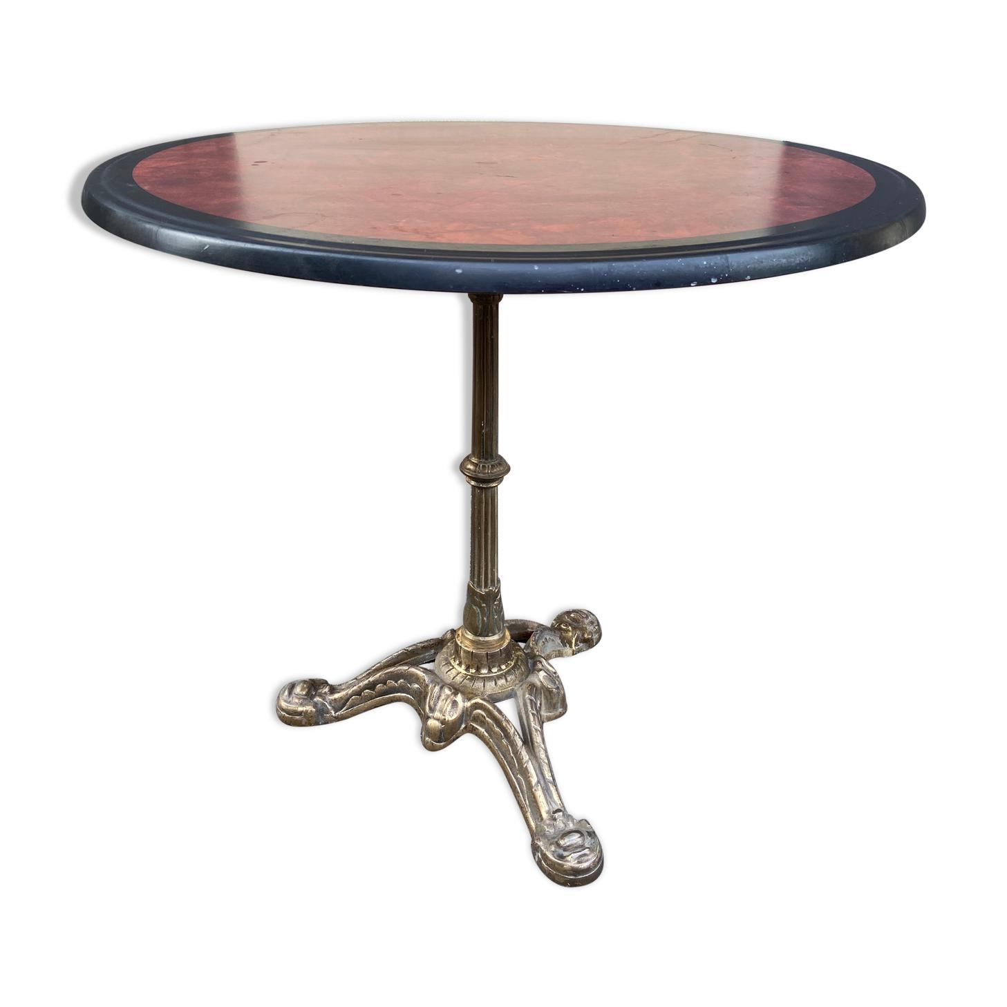 Table bistrot parisienne bronze