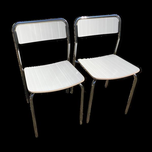 Duo de chaises formica vintage années 70