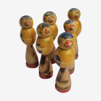 Jeu de quilles pour enfants en bois peint