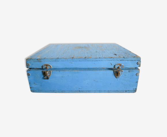Caisse à outils bois bleu