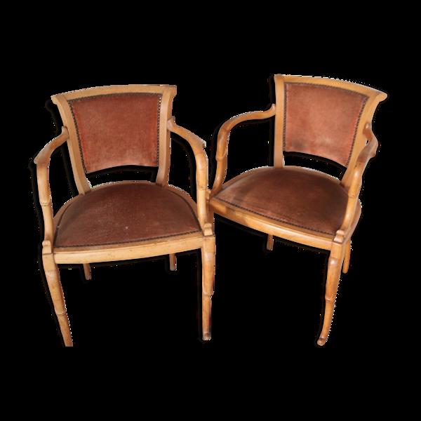 Selency Paire de fauteuils des années 30