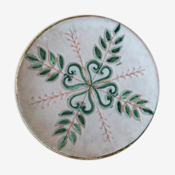 Assiette en céramique des année 50 marie madeleine jolly (le triskel)