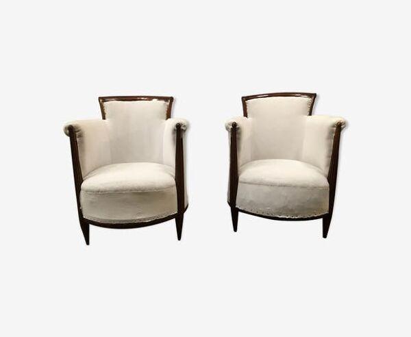 Selency Paire de fauteuils art déco