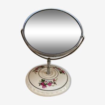 Miroir pivotant motif floral