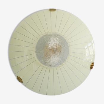 Plafonnier du milieu du siècle en verre