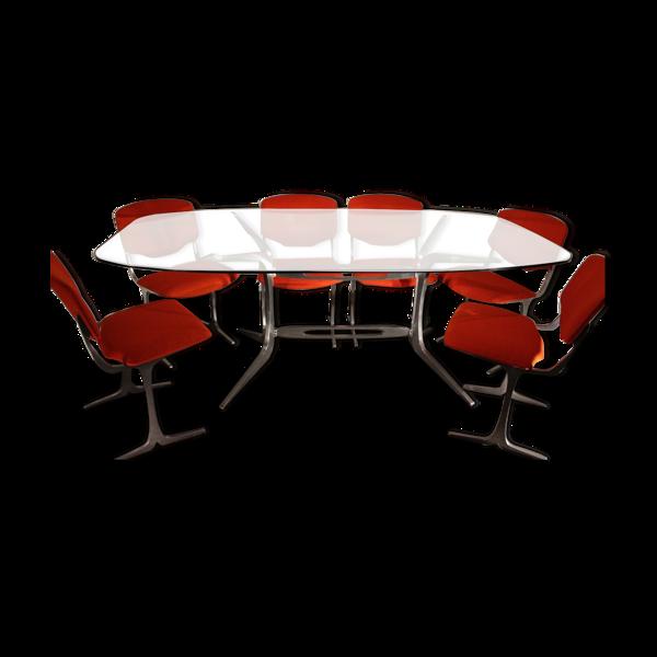 Table et chaises des années 70