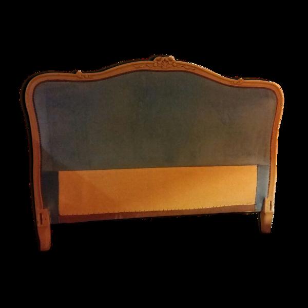 Lit style Louis XV capitonné turquoise