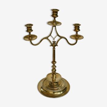 Chandelier en bronze 3 branches ancien