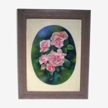 """Tableau """"aux roses"""" de Fontanier J"""