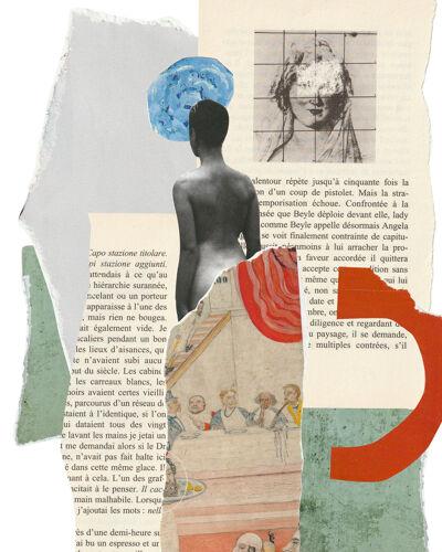 Print collage format  A3. Bellota