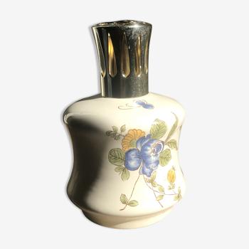 Lampe Berger en céramique à motif fleur