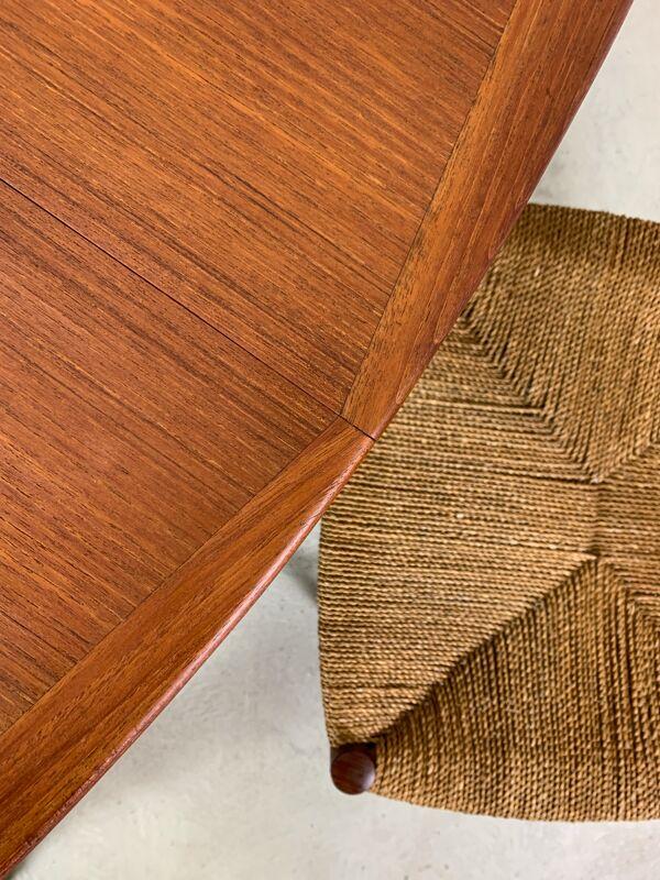 Table extensible de Gustav Bahus avec 4 chaises de Peter Hvidt