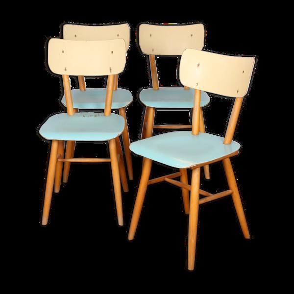Selency Ensemble de 4 chaises pour l'éditeur tchèque Ton 1960