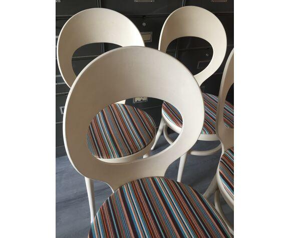 """Suite de 4 chaises """"fourmi"""" Baumann"""