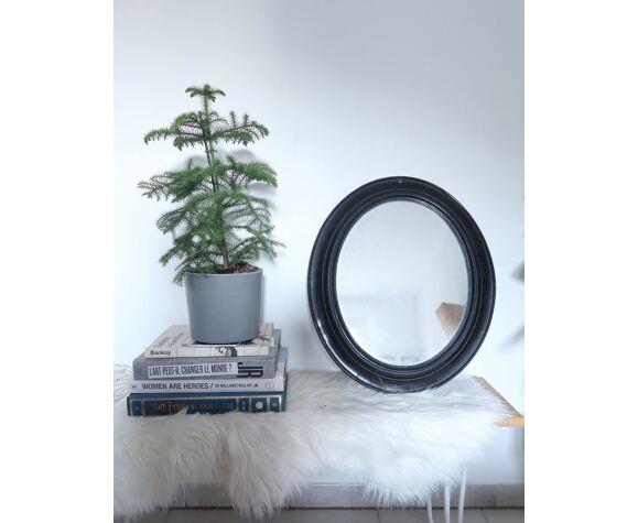 Miroir noir Napoléon III  47x57cm