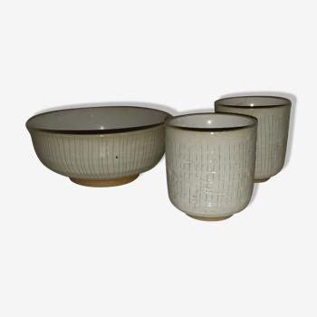 Ensemble de pots céramique.
