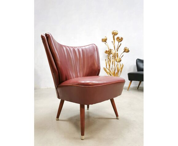 Vintage cocktail Expo chair Artifort red