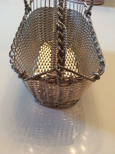 Christofle silver bottle holder
