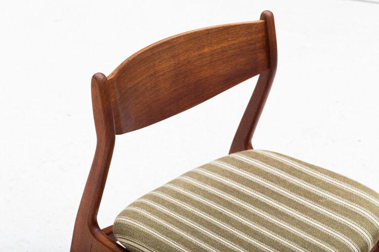 Ensemble de 5 chaises, Danemark 1960