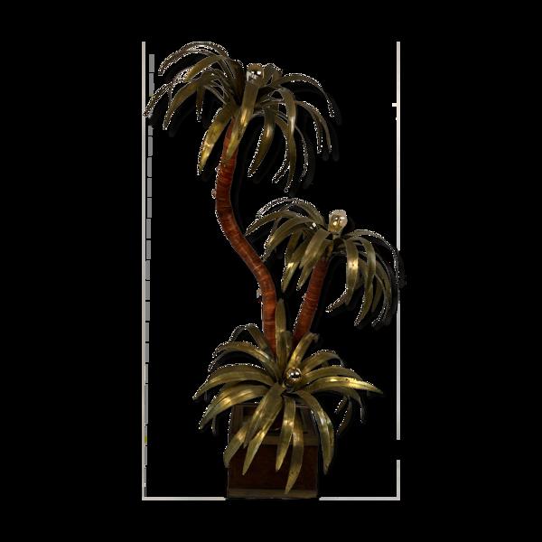 Lampadaire en laiton Maison Jansen palmtree