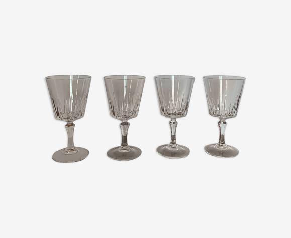 4 à vin verres cristal