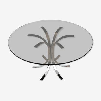 Table guéridon en verre fumé - Ø90cm