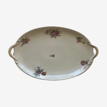 Plat ovale porcelaine GDA France