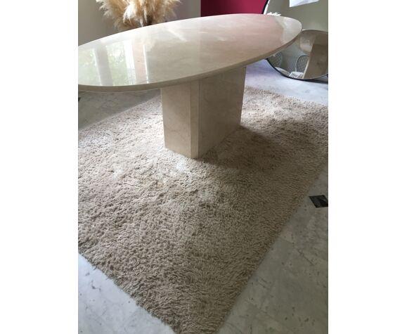 Table en travertin