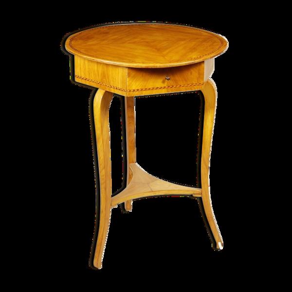 Selency Table de chevet ronde classique