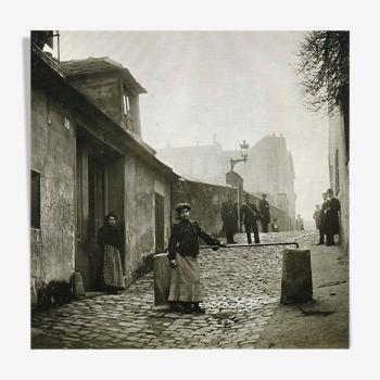 """Photographie """"Montmartr allée des brouillards"""" Paris 1902   /   N&B  /   15 x 15 cm"""