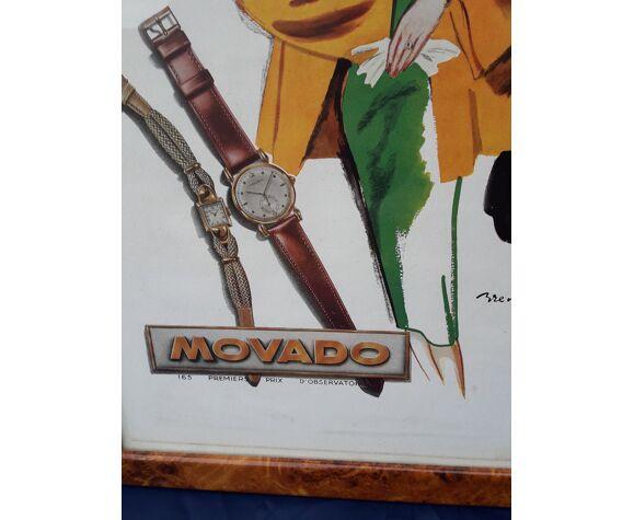 Affiche publicitaire montres  Movado