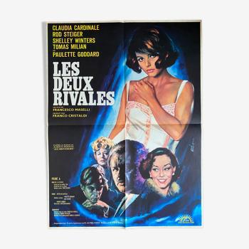 """Affiche cinéma originale """"Les deux rivales"""" Claudia Cardinale 60x80cm 1964"""
