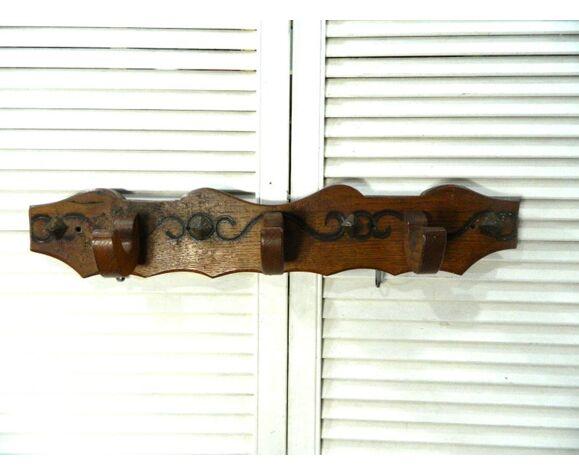 Porte manteaux à 3 crochets en bois