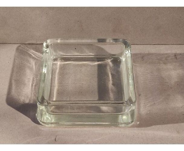Cendrier vintage Lumax pavé de verre Le Corbusier